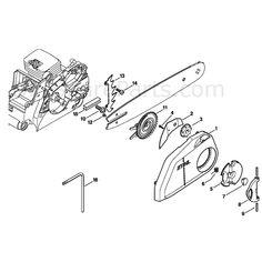 Stihl MS 180 Chainsaw (MS180C-B D) Parts Diagram, Rewind