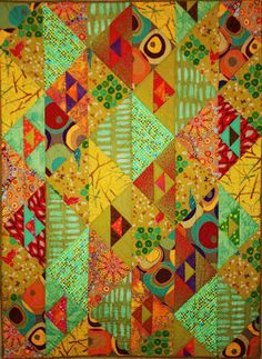 Quilt Inspiration: Simple shapes in fabulous fabrics