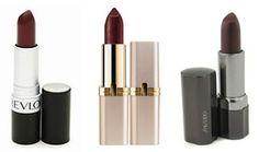 Revlon Matte Lipstick (Wine Not) - $5.04 L'Oreal Colour Riche Lipstick (Pure Burgundy) - $8.49 Shiseido Perfect Rouge Sheer (Natural Wine) - $25