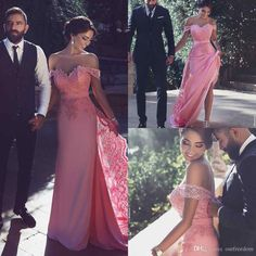 2017 Fashion Said Ahamad Evening Dresses Appliques Off Shoulder Floor Length Formal Occasion Prom Dresses Celebrity Gown Custom Made Formal Evening Wear Grey Evening Dress From Ourfreedom, $108.55| Dhgate.Com