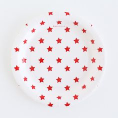 White with Red Stars Dessert Plates – Shop Sweet Lulu