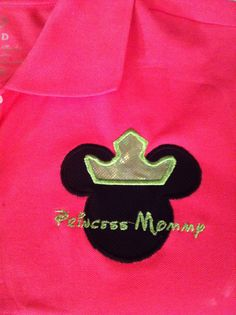 Minnie Mouse Princess Mommy Custom Embroidery by lollimollybows, $23.95