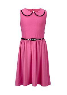 Girls Peter Pan Collar Jersey Prom Dress