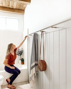 Trending: Cane Furniture (and a Round Up) - Angela Rose Home Young House Love, Spring Break, Cane Furniture, Wingback Headboard, Budget Bathroom, Bathroom Ideas, Remodel Bathroom, Small Bathroom, Board And Batten