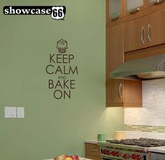Keep Calm and Bake On  Vinyl Wall Art  FREE Shipping by showcase66, $17.50