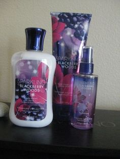 Sparking Blackberry Woods Bath and Body Works Lotion Mini Fragrance Body Cream