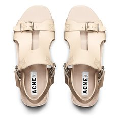 Aimi Peach Sandal by Acne #acne #sandals #nude