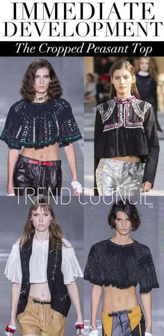 Spring 2016 Trend Report - Fashion Vignette : The Cropped Peasant Top