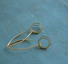 Geometrics   vijfhoekjes aan een zilveren verguld door fleurfatale