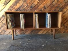 Mid Century Style Record Cabinet Credenza