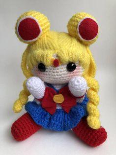 Cute nerdy doll- Handmade Sailor Moon amigurumi doll from Sailor Moon anime. Perfect nerdy gift for any weaboo or otaku.