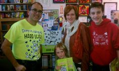 Niece of our own Lindy Humphreys, that's Anna posing with her copy of Hard Luck! At A Children's Place in Portland