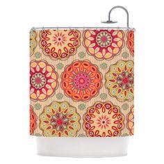 "Have to have it. Kess Inhouse Suzie Tremel ""Festival Folklore"" Shower Curtain - $107.96 @hayneedle"