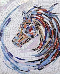 Mosaic Garden Art, Mosaic Tile Art, Mosaic Artwork, Mosaic Diy, Mosaic Crafts, Mosaic Glass, Mosaic Mirrors, Mosaics, Stained Glass
