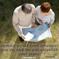 Commit to the Lord whatever you do, and He will establish your plans. Proverbs 16:3 #godlyquotes #scriptureoftheday #CCInstitute Christian Life Coaching, Life Coach Training, Scripture Of The Day, Proverbs 16, Quotes About God, Christian Quotes, Scriptures, Lord, How To Plan
