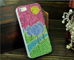 Handmand Bling Diamond 3D Case for iPhone 5 Colorful Tree, Skytechking.com
