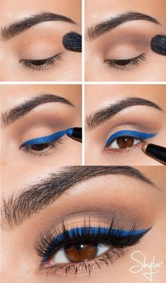 Hot Blue makeup Hot Blue makeup Related posts: 37 Ideas Eye Makeup Blue Inspiration For 2019 Make-up Blue Eyeshadow Prom Eyeliner Ideen Neue Hochzeit Make-up Blue Life Ideen Wedding Makeup For Brown Eyes Blue Urban Decay 21 Ideas For 2019 Colorful Eye Makeup, Blue Eye Makeup, Eye Makeup Tips, Makeup Trends, Eyeshadow Makeup, Beauty Makeup, Diy Makeup, Eyeshadow Palette, Blue Eyeliner Looks