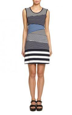 Bailey44 | Ricochet Dress in Blue Stripes on Bailey44.com