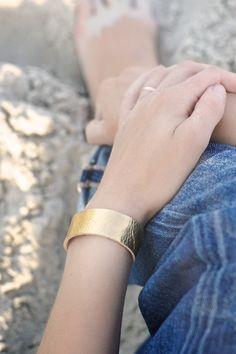 Gold metallic Leather Wrist Wrap | patkas, Etsy
