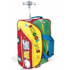 Mala Bolsa Infantil De Viagem Colorida Com Rodas E Alça