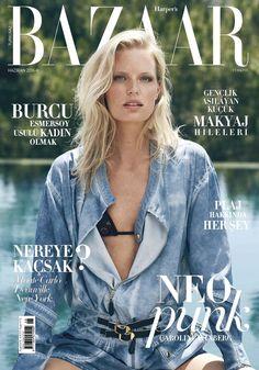 Caroline Winberg stars in Harper's Bazaar Turkey Magazine June 2016 Cover