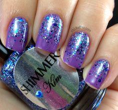 "Chickettes.com - Shimmer Polish ""Kim"" Glitter Gradient"