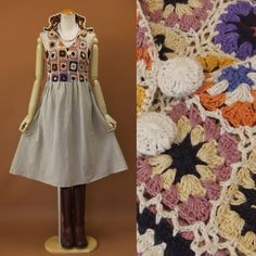 crochet motif dress