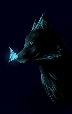 forever by fantazyme on DeviantArt Tiger Artwork, Wolf Artwork, Cute Fantasy Creatures, Mythical Creatures Art, Fantasy Wolf, Dark Fantasy Art, Animal Espiritual, Anime Wolf Drawing, Shadow Wolf