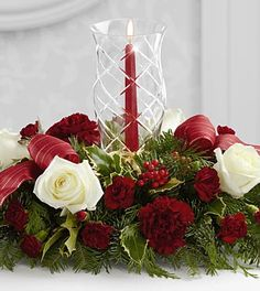 The FTD® Holiday Wishes™ Centerpiece- Deluxe ~ I can just picture this gorgeous centerpiece on the dining room table ~