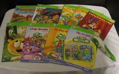 LeapFrog Tag Stylus Reader Pen Book LOT Toy Story 3 Handy Manny Consonant Vowels #LeapFrog