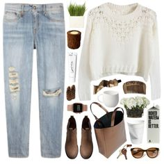 #brown #fall #october #autumn #sweaterweather #denim #jeans
