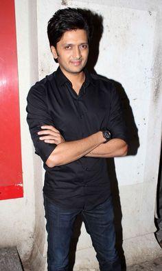 Ritesh Deshmukh at Movie Balak Palak Screeening.