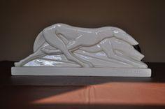 LEMANCEAU CERAMIC RACING GREYHOUNDS ART DECO STYLE | eBay