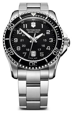 Victorinox Swiss Army® 'Maverick GS' Stainless Steel Watch available at #Nordstrom