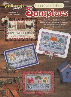 Home-Sweet-Home-Samplers-Plastic-Canvas-Pattern-Booklet-TNS-953949-Wall-Decor