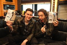 Patrick Gillett and Ian Casselman getting excited about their new Turbine Pro in ear speakers! Get Excited, Good People, Speakers, Trench, Ear, Awesome, Music, Mariana, Musica