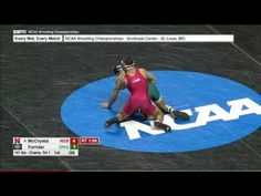 2017 NCAA Wrestling 141lbs: Colton McCrystal (Nebraska) vs Noah Forrider (Ohio)