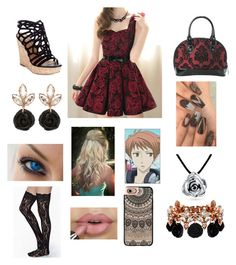 """""""Date with Hikaru!"""" by fashion-anime-animals-reading ❤ liked on Polyvore featuring Rock Rebel, Charles by Charles David, Bling Jewelry, Mawi and Casetify"""