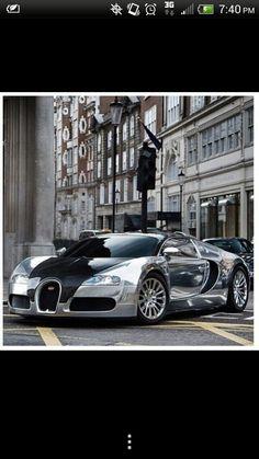 Chromed up Bugatti! Attract the attention on the city roads!