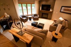 Living Room Layout With Corner Fireplace Design Ideas, Pictures, Remodel and Decor