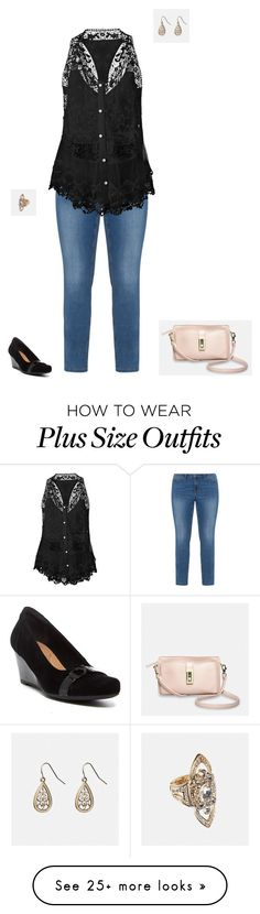 """""""Plus Size"""" by jessiemt2 on Polyvore featuring JunaRose, Venus, Clarks, Avenue and plus size clothing"""