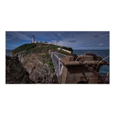 South Stack Lighthouse Lighthouse in Wales Poster - light gifts template style unique special diy