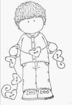 .Niño con cuerdas y corazones