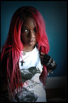 yoyo suicide in wickedland gothic witch girl aesthetic fashion  extensions braids pink hair