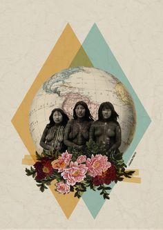 América | Día de la Hispanidad: del genocidio al feminismo hegemónico - El Salto - Andalucía Kunst Inspo, Art Inspo, Art And Illustration, Arte Latina, Collage Artwork, Collage Ideas, Grafik Design, Surreal Art, Digital Collage