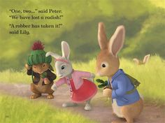 Excerpt from the Ladybird Read It Yourself book 'Peter Rabbit: The Radish Robber'