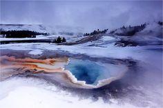 Winter in Yellowstone by Sandra Kreuzinger
