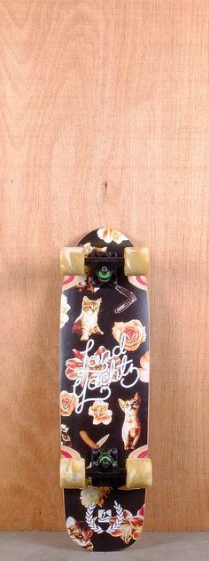 "Landyachtz Prebuilt 29"" Dinghy Cat Pattern Longboard Complete"