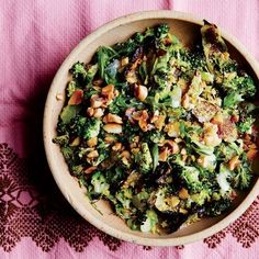Roasted & Charred Broccoli with Scallions and Peanuts. Believe it or not, we came up with a new way to chop broccoli Vegetable Side Dishes, Vegetable Recipes, Vegetarian Recipes, Healthy Recipes, Keto Recipes, Healthy Meals, Dinner Recipes, Clean Eating Recipes, Healthy Eating
