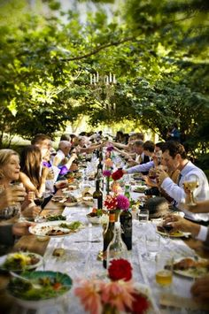 Daily Crush - al fresco dining in the summer